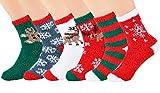 Fanspack Calze di Natale, Calzini Bambini Calze Ragazze Ragazzo Spessi Cotone Caldo Inverno Confortevole