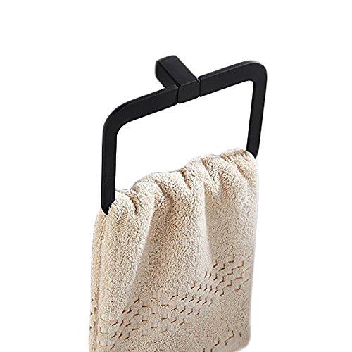 Handtuchhalter,bad handtuchstange handtuchring wand Schwarzes Quadrat towel holder roller handtuch