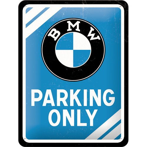nostalgic-art-bmw-parking-only-targa-in-metallo