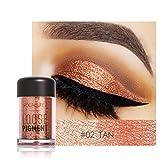 Barbarer Lidschatten Palette, Glitter Perlglanz Lidschatten Pulver Eye Shadow Makeup Pearl Schimmer Metallic Kosmetik Eyeshadow Palette -18 Farben (2)