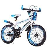 1 Velocidad Bicicletas Infantiles de montaña 16 in 18 in 20 in,Unisex Bicicleta BMX Freestyle,Blue,18in