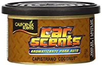 California Scents California Car Scents 4-Unit Tray, Capistrano Coconut, 1.5-Ounce Cans (Pack of 4)