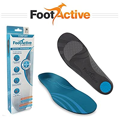 FootActive COMFORT - NHS APPROVED - Arch-support orthotic insoles For heel pain, plantar fasciitis, knee and backpain - Superb quality insoles!