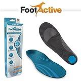 FootActive COMFORT - para el dolor de talón, Espolones, Fascitis Plantar, dolor de rodilla y espalda - ¡plantillas de excelente calidad!