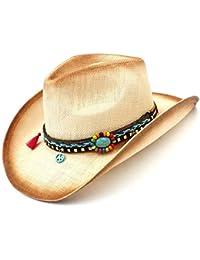 Shishanyun Tejido a Mano para Lady Sombrero Hombre Cowgirl Straw Sombrero  de Vaquero Occidental para Mujer 0d918160714
