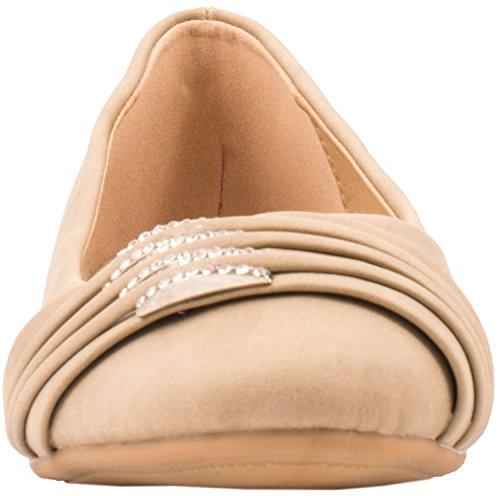 Loisirs Femmes Ballerines confortable pantoufles Chaussures Chaussures avec déco Beige