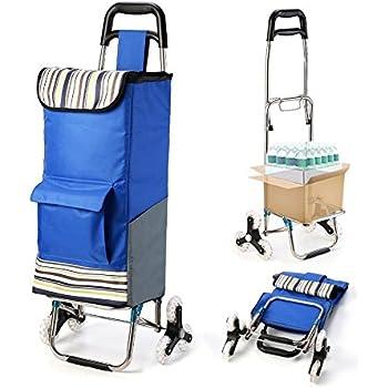 Upgraded Tri Wheel Folding Shopping Cart Trolley Dolly