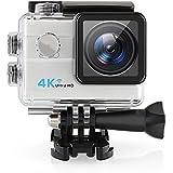 Caméra Sport Amzdeal Caméra action 4 K Wifi étanche 30m 173° objectif grand angle Haute Définition 1080p 60fps 12MP + kit d'accessoires de montage