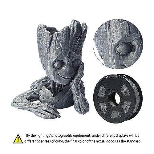 Anycubic-Imprimante-3d-Filament-PLA-Tolrance-le-diamtre-de-la-002-mm-bobine-de-1-kg-175-mm-pour-imprimante-3d-et-3d-Lot-de-6-crayons-couleur-gris