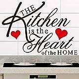GVC La Cuisine est Le cœur de la Maison Citation Sticker décoratif adesivo de Parede Amovible Vinyle Autocollant Mural