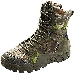 Free soldier Hombres militares high-top Zapatos táctico senderismo botas cordones Trabajo Combate todos los terrenos Botas resistente al agua 3 colores,camouflage, 42