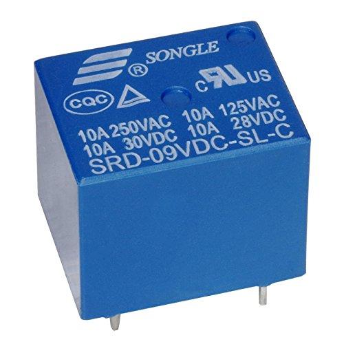 Miniatur Print Relais 9V 1-Wechsler 1xUM 10A/250V SRD-09VDC-SL-C -