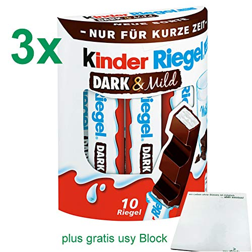 Preisvergleich Produktbild Kinder Riegel Dark & Mild Office-Pack (3x10 Riegel) plus gratis usy Block