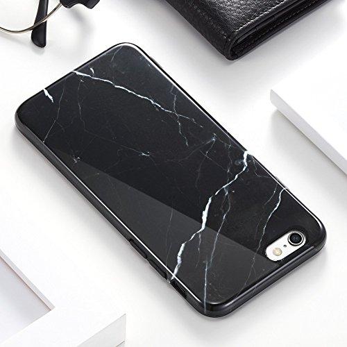 Coque iPhone 6s Marbre, ESR iPhone 6 / 6 S Coque Silicone Motif Marbre, Housse Etui de Protection Bumper en TPU Souple Lustré [Anti Choc] [Anti Rayures] [Ultra Fine] [Ultra Léger] pour Apple iPhone 6s Noir Marquina