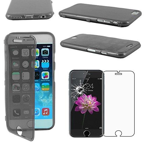"""ebestStar - pour Apple iPhone 6S 6 Plus écran 5,5"""" - Housse Etui Coque Silicone Gel Portefeuille + Film protection écran en VERRE Trempé, Couleur Noir [Dimensions PRECISES de votre appareil : 158.1 x  Noir"""