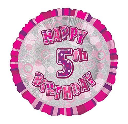 Unique Party Supplies 45,7cm Folie Glitz Happy Birthday Helium Ballon Preisvergleich