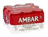 Ambar Especial Cerveza - Paquete de 9 x 330 ml - Total: 2970 ml
