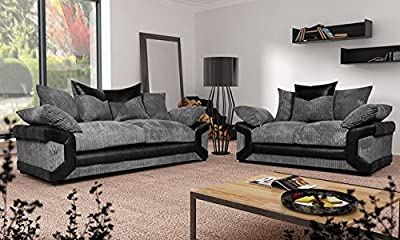 Grande Nuovo Dino Corner Sofa Set or 3 Seater and 2 Seater Settees Couches Color Variations Available from Furniture Stop
