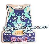 Katzenhalsband mit Comicmotiv Graffitimotiv Gravur Glocke Katzen Halsband für Katzen Kitten kleine Hund von Treat Me