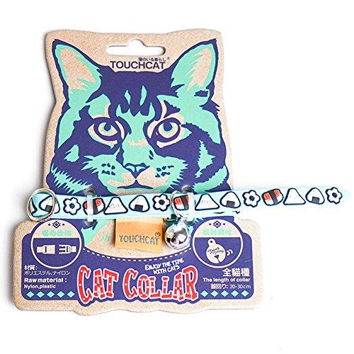 Katzenhalsband mit Comicmotiv Graffitimotiv Gravur Glocke Katzen Halsband für Katzen Kitten kleine Hund von Treat Me (Gummi Top Bedruckte Baumwolle)