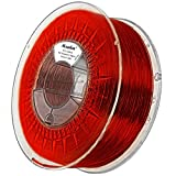 Minadax 0,75kg Premium Qualitaet 3mm (2,85mm) PET-G Filament rot transparent fuer 3D-Drucker...