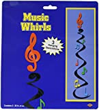 Beistle - 50960 - note musicale Whirls - Lot de 6