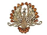 Alilang Flying Pfock Ave Fénix Ahumado topacio Naranja marrón Color Rhinestone Cristal Broche
