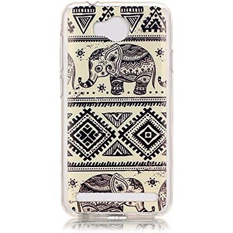 Meet de Caso / copertura / Telefono / sacchetto Per Huawei Y3 II / Y3 2 PU Pelle Case , Huawei Y3 II / Y3 2 Custodia / Cover / Cover Shell / Protettiva Caso / Cover / Protezione / Copertura TPU Per Huawei Y3 II / Y3 2 - elefante