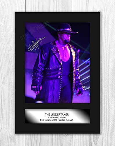 iFrame The Undertaker WWE Wrestler Signed Autograph Reproduction Photo A4(unframed)