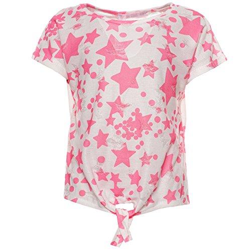 T-Shirt Klassisch Kurz-Arm Oberteil Modern 21807 Rosa Größe 140 - Mädchen Rosa Armee T-shirt