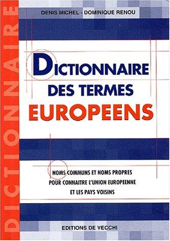 Dictionnaire des termes européens