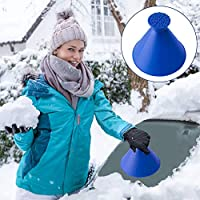YQHbe Ice Scraper Cone,Magical Car Ice Scraper Scrape A Round Ice Scraper Cone Shaped,Snow Scraper Car Deicer Auto Windshield De-Icers Snow Brushes Magical Ice Removal Tool For Trucks, Vans and SUV