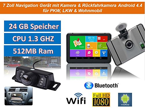 178cm-7-Zoll-Android-44PKWGPSNavigationsgertNavigationWIFIWohnmobil-Neuste-Europa-Karten-sowie-RadarwarnerTablet-PCInternetWohnmobilLKWAuto-24GB-Speicher-HD-DisplayAV-INBluetoothKameraRadarwarner-Rckf