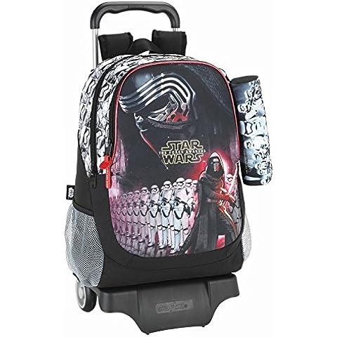 Star Wars–La Guerra De Las Galaxias–Mochila con ruedas (S313), 43x 32x 16cm + Estuche negro Kylo