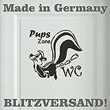 Stickerbude24 - Adesivo puzzola per porta bagno, 20 x 19 cm, colore: Nero [lingua tedesca]