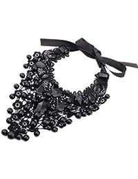 SODIAL (R) Las mujeres del estilo retro populares Gargantilla Collar colorido tono Cadena collar para la madre regalo