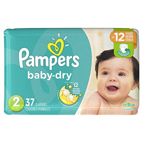 Pampers Baby-Dry Einweg-Windeln, Größe 2, 37 Stück