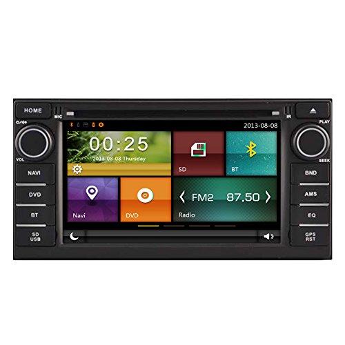 autosion Auto DVD Player GPS Radio Stereo Haupteinheit für Nissan Juke Almera Note Livina 2014Auto Navigation Audio Kapazitive Touchscreen Bluetooth A2DP USB SD Lenkrad Control