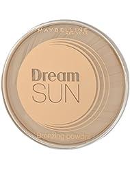 Maybelline Dream Terra Sun Bronzing Puder Nr. 1 Light Bronze, zaubert eine zart schimmernde Sommerbräune zu jeder Jahreszeit, für eine frische Ausstrahlung, angenehmes Tragegefühl, 15 g