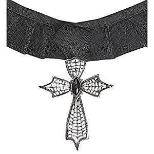 WIDMANN?Collar cruz gótico con Gemma Womens, Negro, talla única, vd-wdm7127C