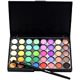 Sombra, Challeng Cosmetic Matte Eyeshadow Cream Maquillaje Paleta Shimmer Set 40 Color + Pinceles...