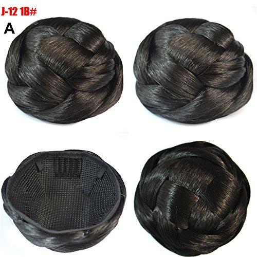 Rifuli® Perrücke Pretty Woman Girl Ponytail Holder Hairpiece Wig Hair Ring Bun 90er/80er jahre ()