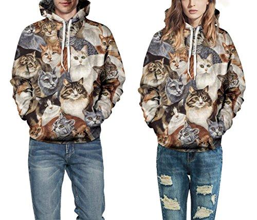 Sweatshirt Hoodies 3D Imprimer Cordon À Capuche À Manches Longues Casual Jumper Avec Grande Poche Pour Hommes Femmes Couples A