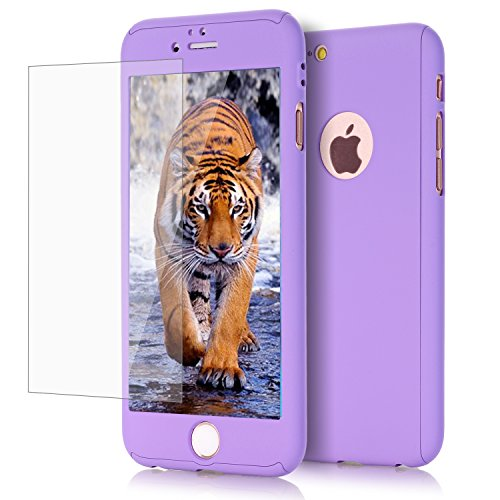 l, Viral Protein R 2 in 1 Ultra Dünn Full Body Schutz Hard Premium Luxus Cover [Slim Fit] Stoßdämpfung griffsicheres PC Case für Apple iPhone 6/6S Plus (14 cm), Violett ()