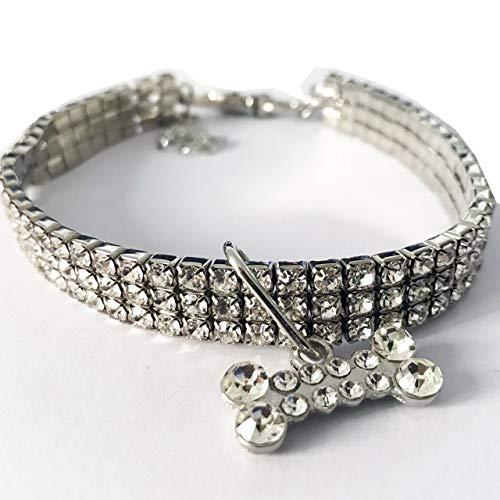 Prima05Sally Mini-Haustier-Hundehalsketten-glänzende Kristallrhinestones Chocker Halsbänder Fancy Katze Hundehalsband Elastic justierbarer Haustier Schmuck