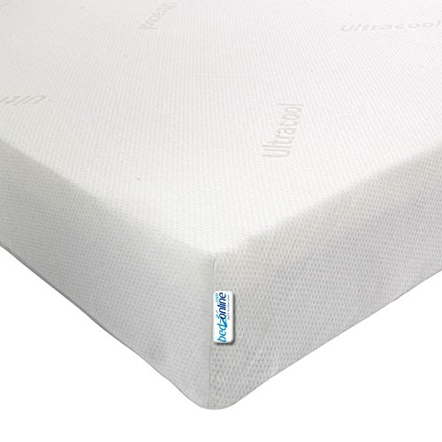 bedzonline 4FT SMALL DOUBLE BUDGET ECO MEMORY FOAM MATTRESS 4INCH DEPTH WITH MAXICOOL COVER
