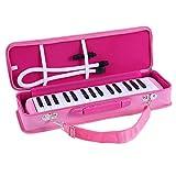 ammoon Melodica 32 Tasti Pianica Stile Piano Tastiera Armonica con Boccaglio Panno di Pulizia Custodia per Principianti Bambini Regalo Musicale (Rosa)