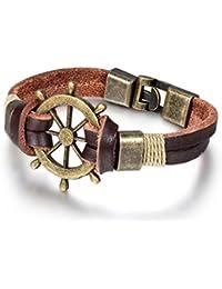 Jewelrywe Mujeres de los hombres de la pulsera de la joyería, piratas estilo retro pulsera