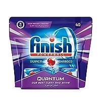 Finish Quantum Dishwasher Detergent Tablets, Original, 40 Tablets