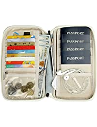 Passport Wallet Multiple Family Passport Holder Travel Document Organizer By Bopipa
